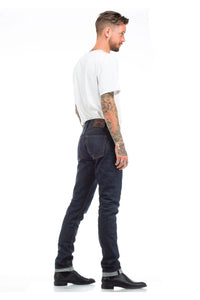 The perfect raw slim fit indigo jean. Asbury Park crafts traditional 5-Pocket American Made Denim with an emphasis on comfort, fit and old-world craftsmanship. The creative grit, the 'anything goes' mentality, the rock and roll lifestyle are all elements breathed into every piece of the collection.
