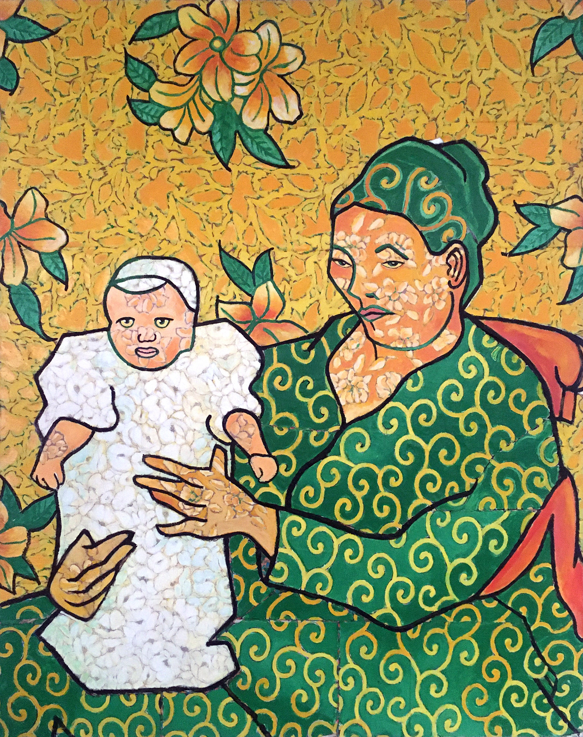 Van Gogh's Portrait of Madame Roulin and her Baby, Untitled