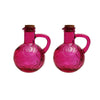 French Home Set of 2, 14-ounce Oil & Vinegar Cruet - Purple, Grey, Red (M23, 24, 26)