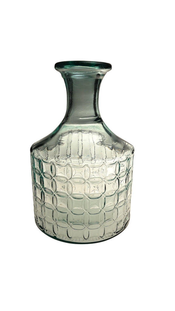 French Home 12-inch Clear Valencia Lattice Vase (M140)