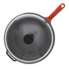 Chasseur 11-inch Red French Enameled Cast Iron Fry pan with Glass Lid CI_3129