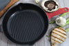 Chasseur 10-inch Red Round French Enameled Cast Iron Grill Pan (CI_3160)