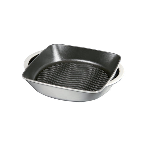 Chasseur Carronde 10-inch Grill Pan, Grey and Black