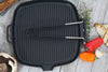 Chasseur 9-inch Square French Cast Iron Grill With Folding Handle (CI_32722)
