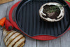 Chasseur 10-inch Red Round French Enameled Cast Iron Grill Pan (CI_3350)