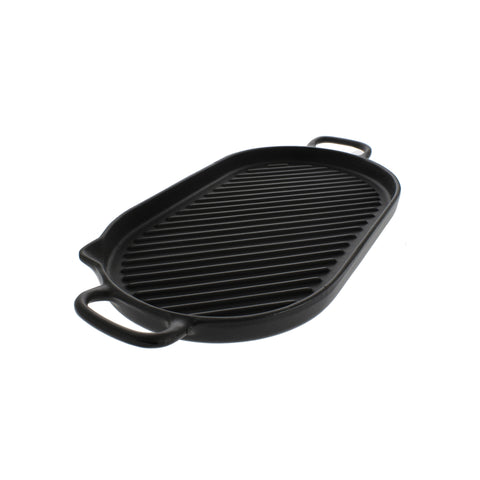Chasseur 14-inch Oval French Cast Iron Grill (CI_33700)