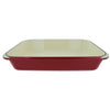"Chasseur 15"" x 10"" Red French Enameled Cast Iron Rectangular Roaster (CI_3541)"