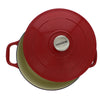 Chasseur 5.5-quart Red or Caviar Grey French Enameled Cast Iron Round Dutch Oven (CI_3726)