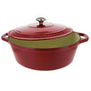 Chasseur 7.25-quart Red French Enameled Cast Iron Oval Dutch Oven (CI-3733)