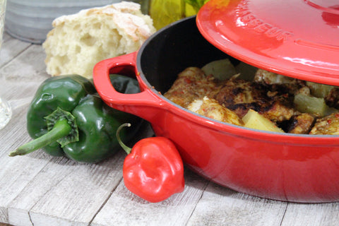 Chasseur French Enameled Cast Iron Braiser with Lid, 1.4-quart, Red (CI_4920R)