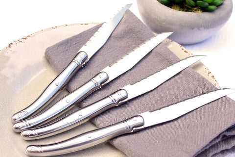 French Home Set of 4 Laguiole Stainless Steel Steak Knives - LG014