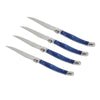 French Home Set of 4 Laguiole Blue Marble Steak Knives (LG018)