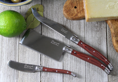 French Home 3 Piece Large Laguiole Pakkawood Cheese Knife Set (LG028)