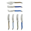 French Home 7 Piece Laguiole Cream and Blue Cheese Knife and Spreader Set (LG032)