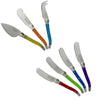 French Home 7 Piece Laguiole Jewel Colors Cheese Knife and Spreader Set (LG034)