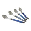 French Home Set of 4 Laguiole Shades of Blue Coffee Spoons (LG094)