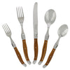 20 Piece Laguiole Wood Grain Flatware Set by French Home (LG121)