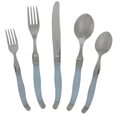 20 Piece Laguiole Ice Blue Flatware Set by French Home (LG124)