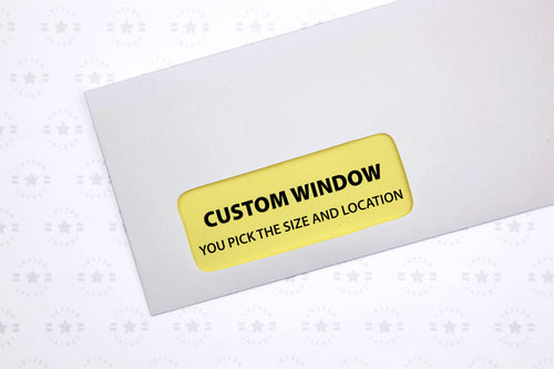 #10 Custom Printed Custom Window Envelope