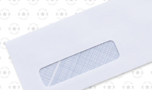 8 5/8 Check Window Envelope with Process Blue Security Tint
