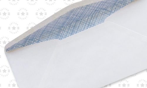 #9 Standard Window Envelope Blue Security Tint with Regular Gum (custom printed or plain)