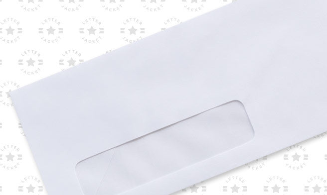 #9 Standard Window Envelope with Regular Gum (Custom Printed or Plain)