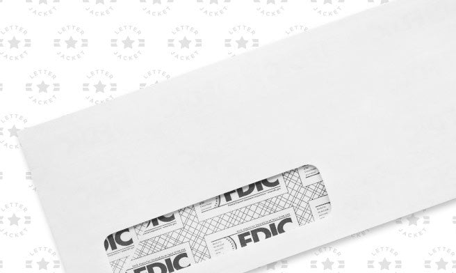 #10 Standard Window Envelope Black FDIC Security Tint with Regular Gum (custom printed or plain)