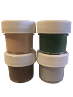 4 - Paint Colors (Dark Green, Brown, Beige, Grey)