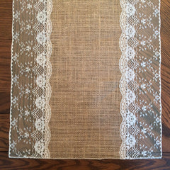 "Table Runner | ""Eliza Grace"" (White) 