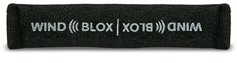 Wind-Blox Pro in Black, one pair