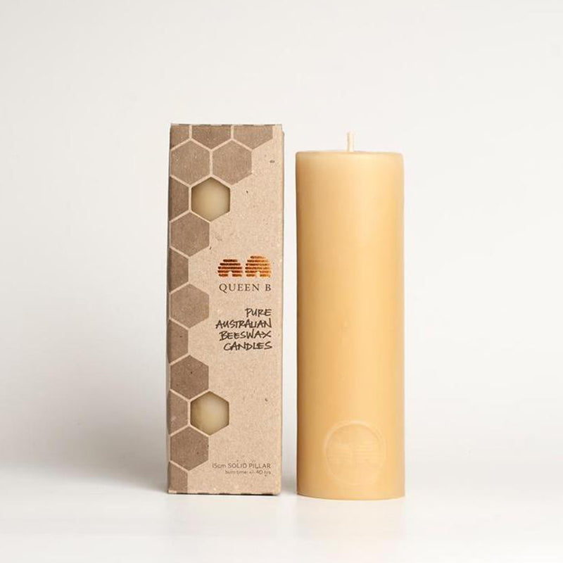 Pillar Beeswax Candle 15cm