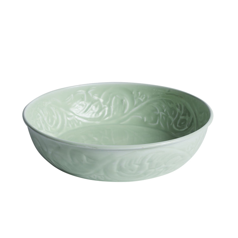 Bazaar Flat Bowl Celery by Canvas & Sasson - Available At Berry Jam Sweet Living