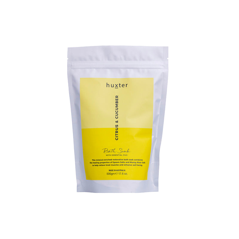 Bath Soak 120gm Citrus & Cucumber by Huxter - Available At Berry Jam Sweet Living