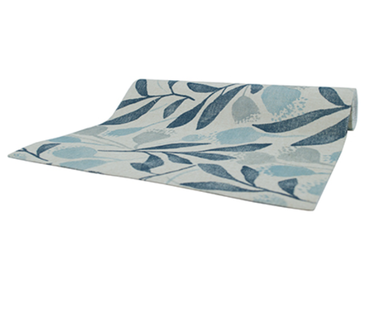 Gumnut Blue Table Runner by Country Style - Available At Berry Jam Sweet Living