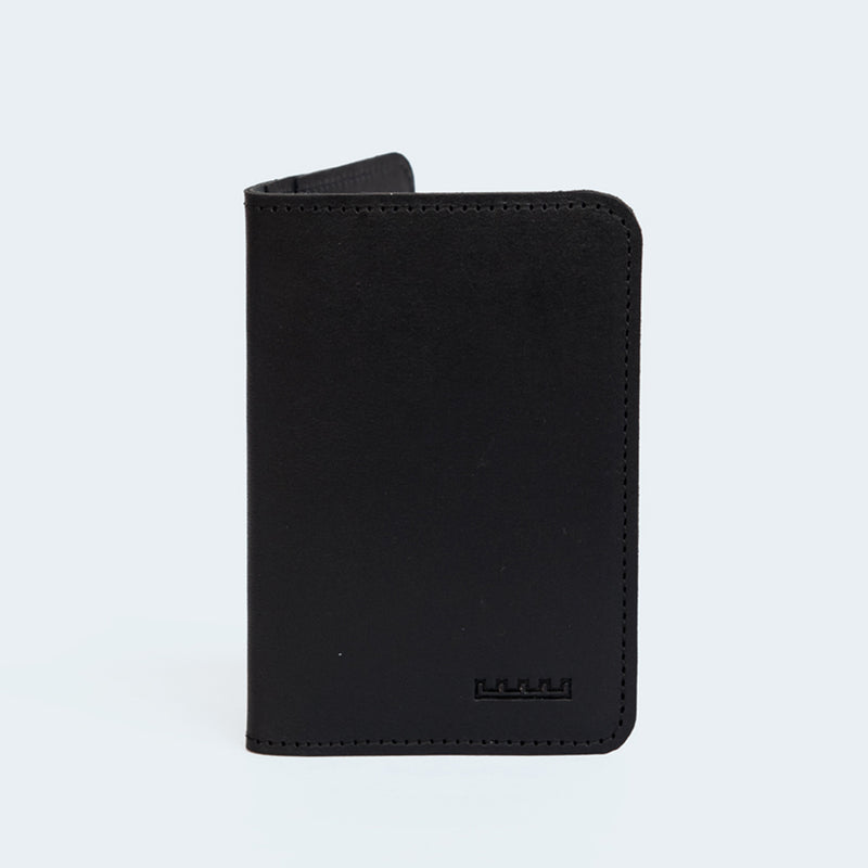 Leather Card Wallet Black
