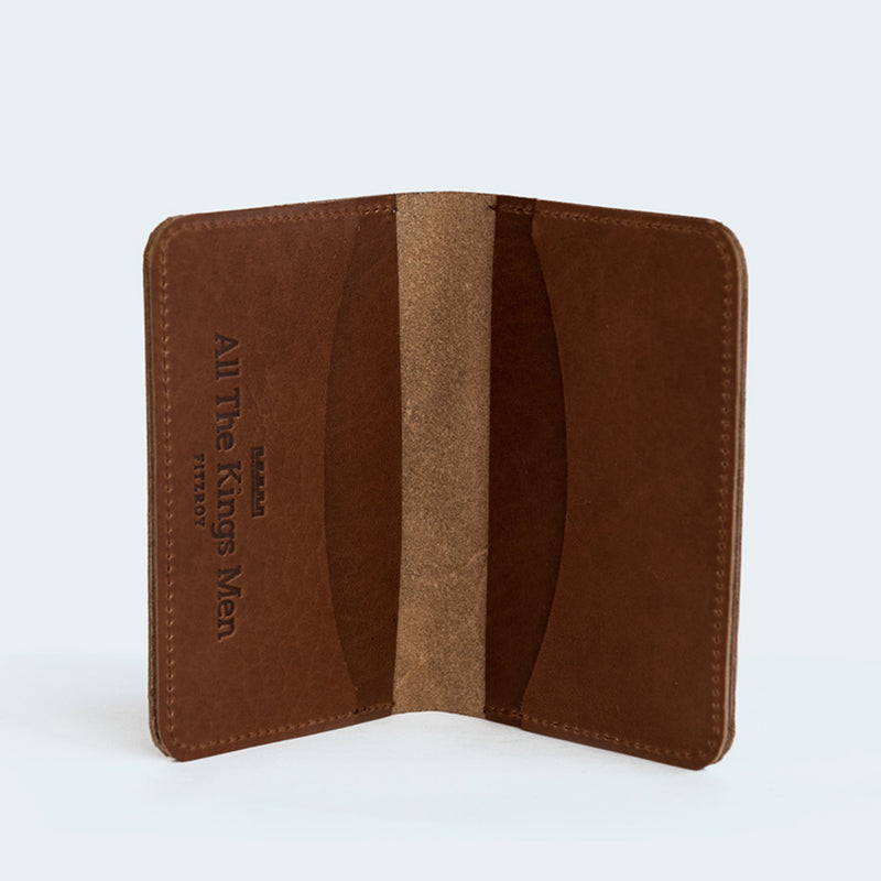 Leather Card Wallet Brown