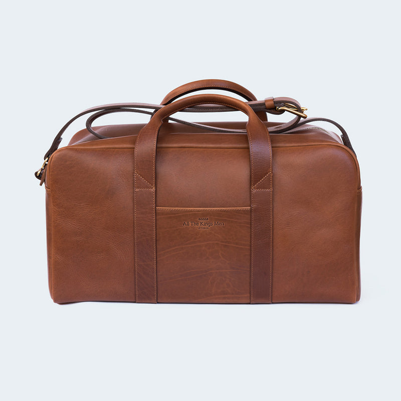 Leather Duffle Bag Small  Brown