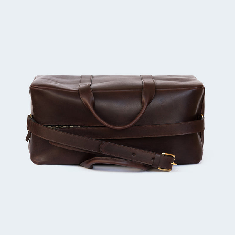 Leather Duffle Bag Small Chestnut