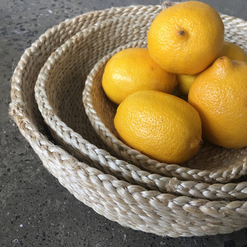 Jute Basket Round by Carnival Homewares - Available At Berry Jam Sweet Living