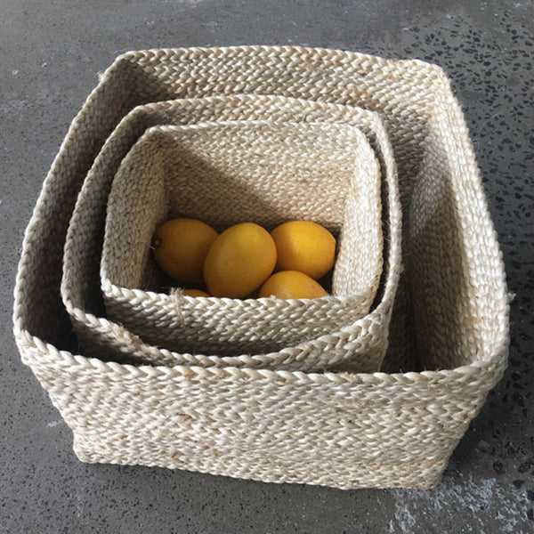 Jute Basket Square by Carnival Homewares - Available At Berry Jam Sweet Living