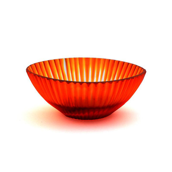 Brian Tunks Cut Glass Bowl Mini Blood Orange