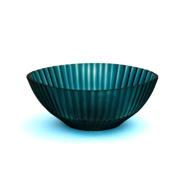 Brian Tunks Cut Glass Bowl Mini Turquoise