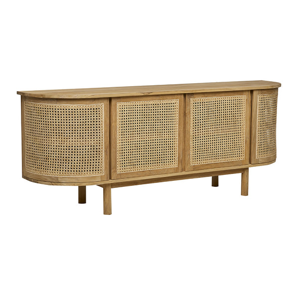 Willow Curve Buffet Natural Teak