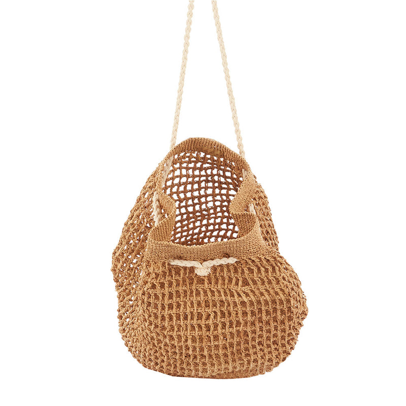 Bavata Raffia Bag Tea by Tanora - Available At Berry Jam Sweet Living