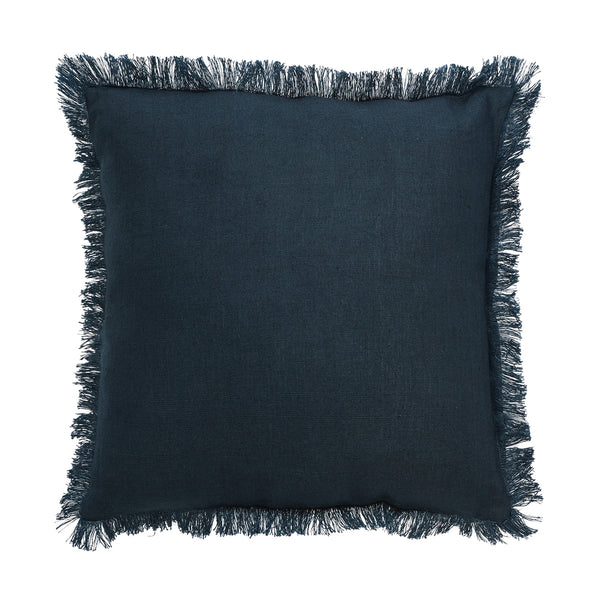 Porter Classic Fringe Navy Cushion by Canvas & Sasson - Available At Berry Jam Sweet Living