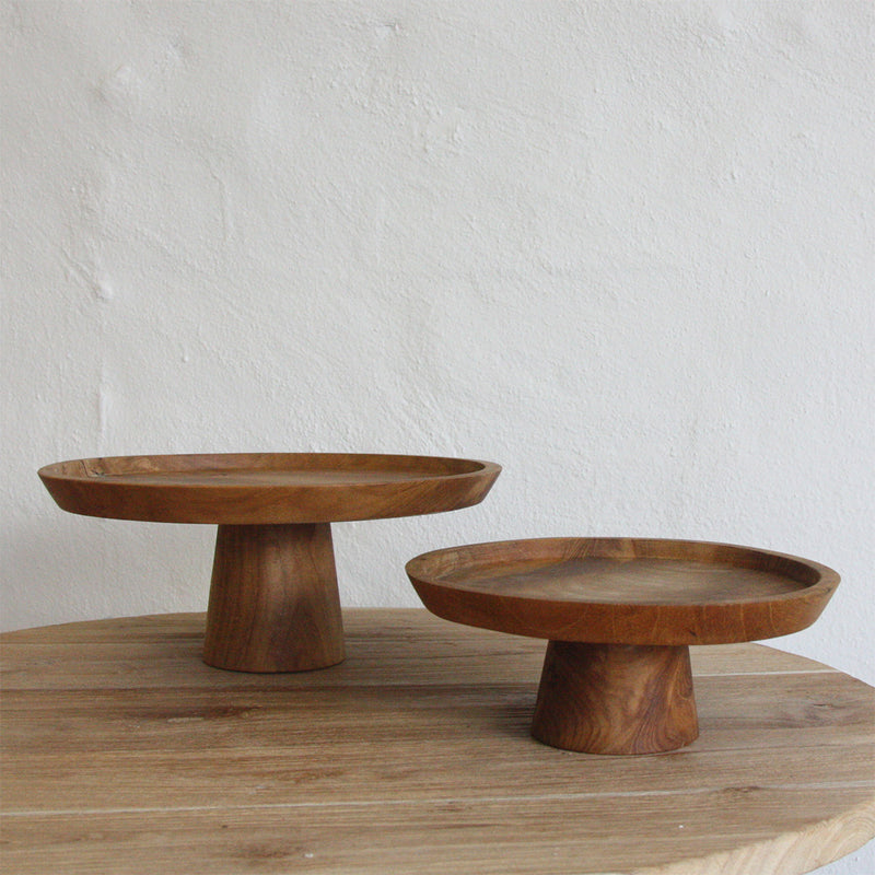 Jali Wooden Cake Stand Small by Inartisan - Available At Berry Jam Sweet Living