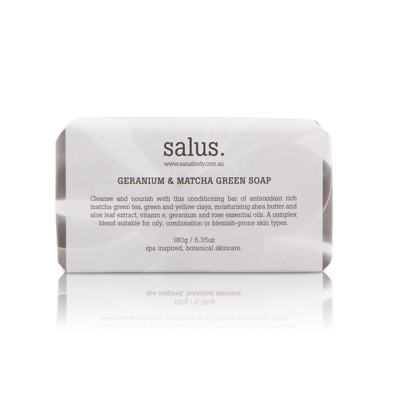 Geranium & Matcha Green Soap by Salus Body - Available At Berry Jam Sweet Living