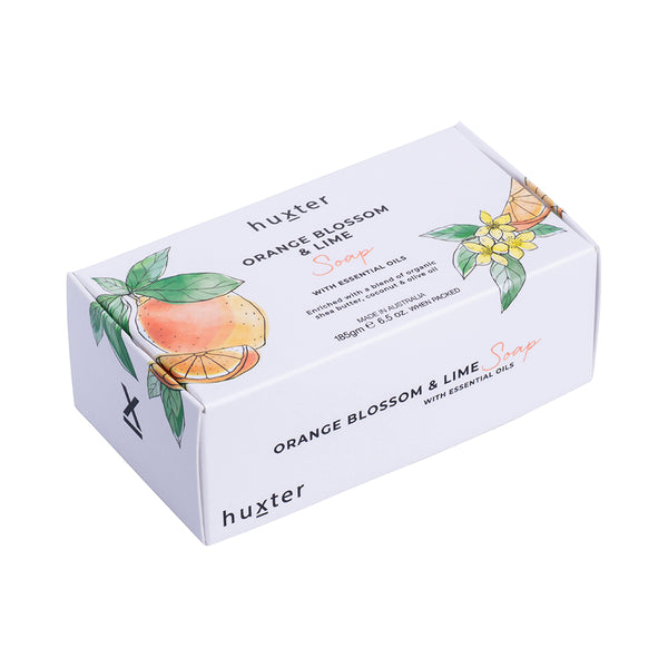 Botanicals Soap 185gm Orange Blossom & Lime by Huxter - Available At Berry Jam Sweet Living