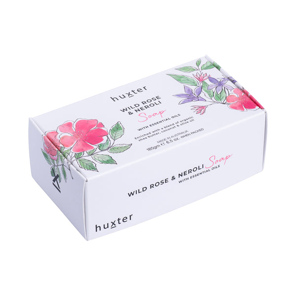 Botanicals Soap 185gm Wild Rose & Neroli by Huxter - Available At Berry Jam Sweet Living