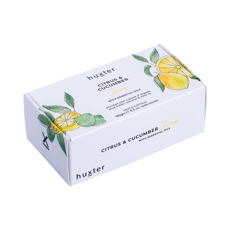Botanicals Soap 185gm Citrus & Cucumber by Huxter - Available At Berry Jam Sweet Living
